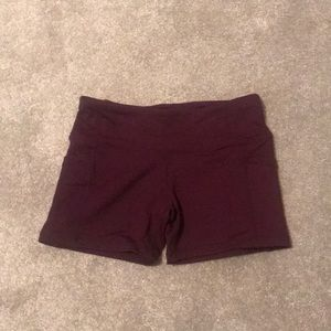 Compression workout shorts
